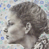 Panelės Domilės akademinis pieštuko bei medžio anglies portretas