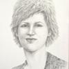 Panelės Vidos akademinis pieštuko portretas