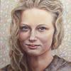 Panelės Vakarės portretas pastelė, pieštukais, medžio anglimi