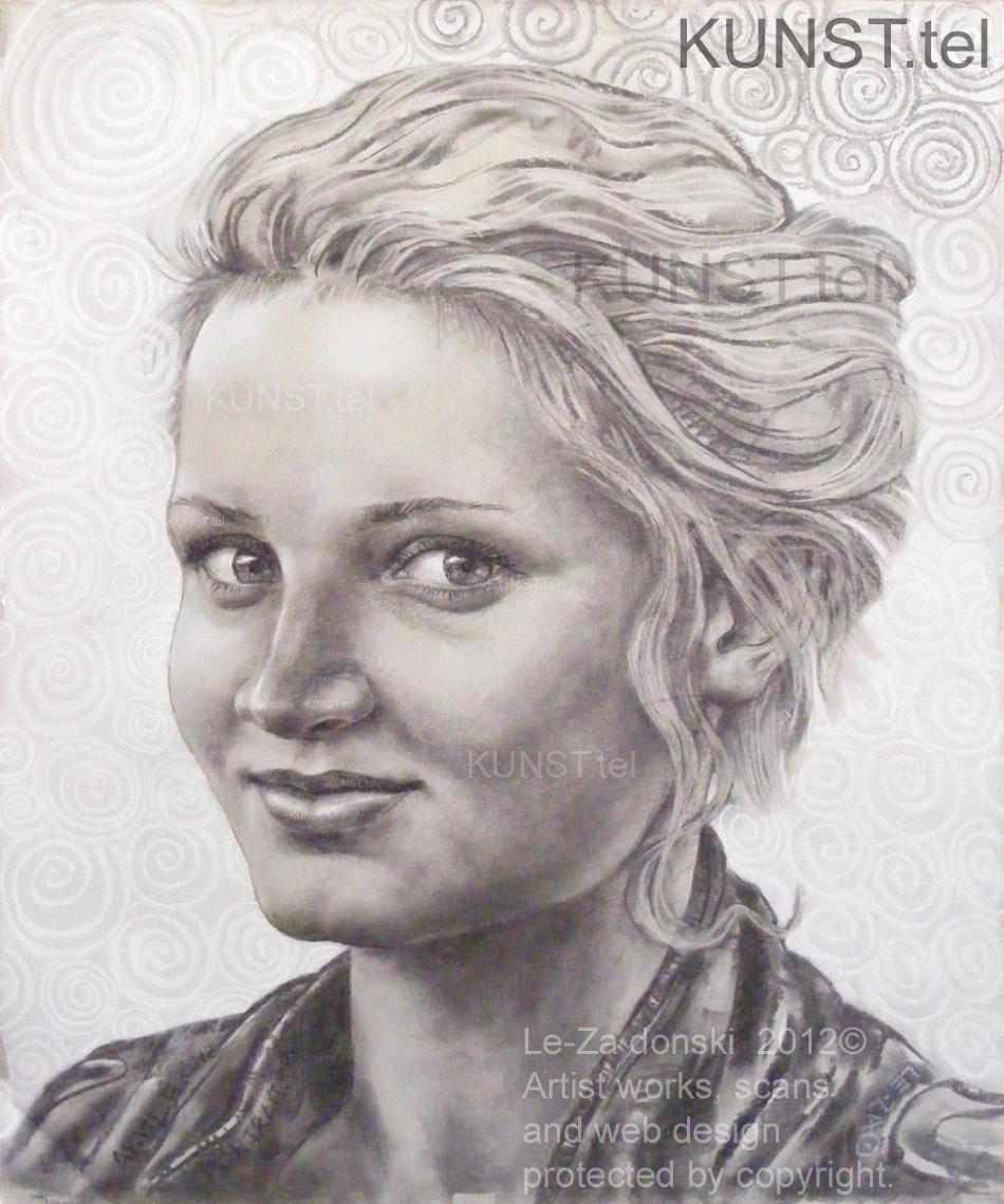Panelės Akvilės portretas, dailininkas-portretistas Le-Za