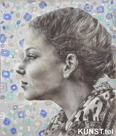Panelės Domilės akademinis pieštuko bei medžio anglies portretas, dailininkas-portretistas Le-Za