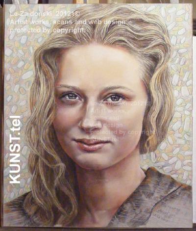 Panelės Vakarės pastelinis portretas, dailininkas-portretistas Le-Za