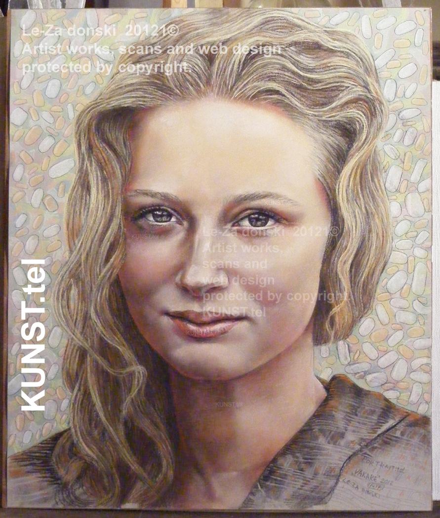 Panelė Vakarė, pastelinis portretas, dailininkas-portretistas Le-Za