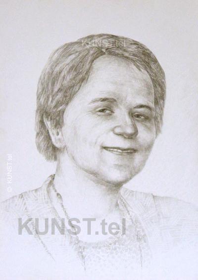 Ponios V. pieštuko portretas, dailininkas-portretistas Le-Za